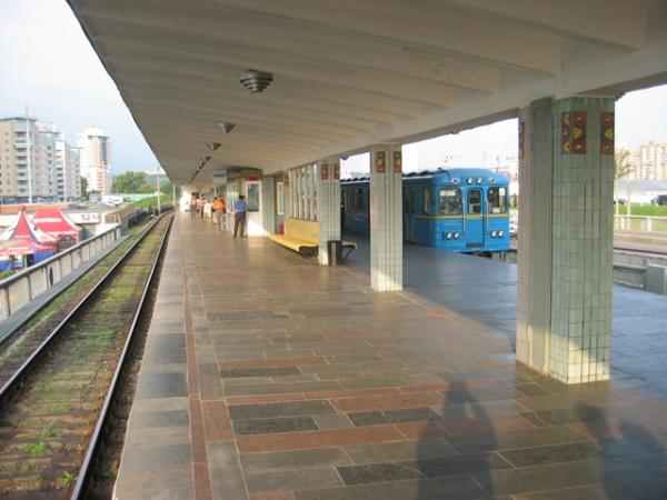 """Станція """"Лівобережна"""". Платформа"""